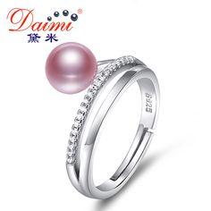 Daimi 링 7-8 미리메터 담수 진주 반지 6 컬러 패션 스타일 선물 천연 진주 반지