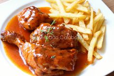 Receta de pollo al vinagre (poulet au vinaigre) - Mercado Calabajío
