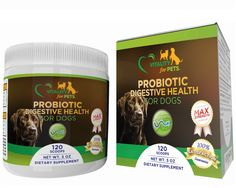HIGH POTENCY MAX STRENGTH Probiotic Supplement For Dogs 5 BILLION CFU 12 Vital Enzyme Strains - Premium Probiotic Powder - Digestive Enzymes, Diarrhea, Constipation, Bloating,Yeast Infections -- You can find out more details at the link of the image. (This is an affiliate link) #MyPet
