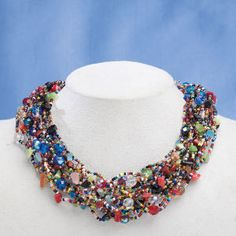 Made by an all-female team of fair trade artisans. Beads of Strength Multi Strand Necklace - Furniture, Home Decor and Home Furnishings, Home Accessories and Gifts | Expressions