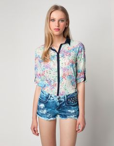 Bershka floral shirt- try to re-create