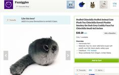 Kawaii Crafters - Etsy Picks for September - Kawaii Kiwi Chinchilla, Kiwi, The Darkest, Plush, Handmade Items, This Or That Questions, Cute, Animals, Etsy