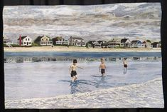 Moody Beach Maine 1957 by Margot McDonnell. Cathy Geier's Quilty Art Blog: 2015 IQF show (Chicago).