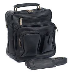 ClaireChase Personalized Jumbo Mens Bag - Black - 405E-BLACK