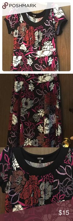 Apt. 9 dress PM Poly/spandex. Machine wash. Belt pictured is for styling only and not included. Apt. 9 Dresses