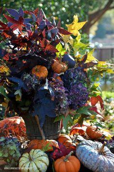 Fantastic fall outdoor arrangement!