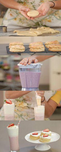 Cupcake Maniacs 12 Shortcake y batido de fresa