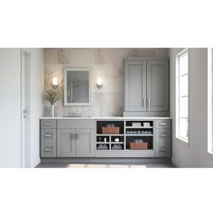 Best Shop Hampton Bay Shaker Dove Gray Cabinets Beach Condo 400 x 300