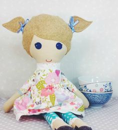 RESERVED for Michelle - Bless Her Heart Doll - fabric doll - cloth doll - handmade doll - stuffed doll - GRACE
