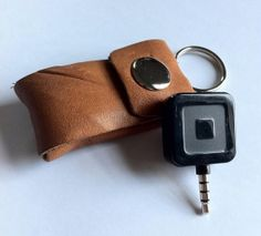 Shop for leather keychain on Etsy, the place to express your creativity through the buying and selling of handmade and vintage goods. Handmade Gifts For Him, Gifts For Her, Credit Card Readers, Leather Keychain, Leather Accessories, Keychains, Personalized Items, Sewing, Couture