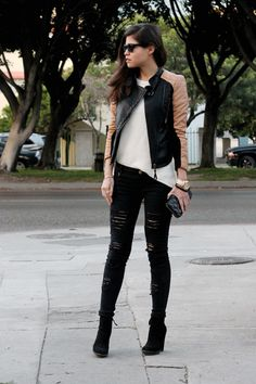 Ripped Jeans And A Motocycle http://re.mu/fakeleather/product/27301