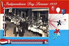 July 2016 ATC Challenge by Speedy Hi Speedy. thanks for the fun again. Here is my July 2016 - Lemmer - Independence Day pict. free to use from our own Lemmer Facebook site . about Lemmer having our own  Independence Day in 1913 . now 103 years ago. made by my old nephew Hendrik Bootsma. shadowed a bit. font - Script I used the loving HSA Red White Blue .thanks Eileen . the perfect kit because we have the same colors in our dutch flag. I used the papers to make the flag as back ground. on