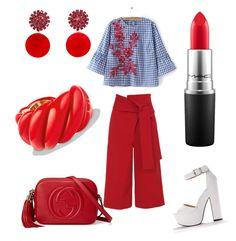 Senza titolo #26 by marzia88 on Polyvore featuring polyvore, fashion, style, WithChic, TIBI, Gucci, David Yurman, Marni, MAC Cosmetics and clothing