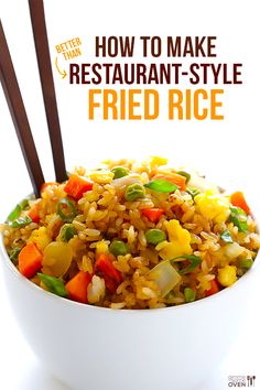 How To Make The BEST Fried Rice | gimmesomeoven.com