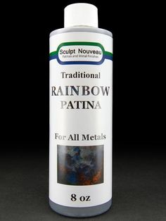 Rainbow Patina - need to try this out!  heat metal apply, rinse, and clear coat!