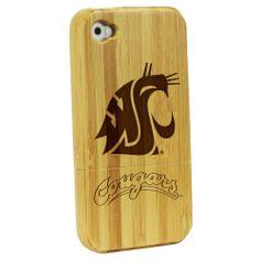 Washington State University Cougars - Bamboo Case for iPhone® 4/4S: Electronics