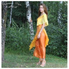 """Комплект """"Восторг!"""" из войлока. - жёлтый,модная одежда,стильная одежда"""