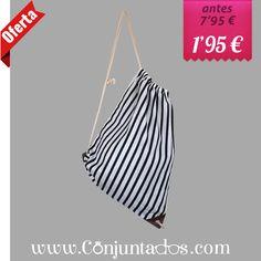 ¡#ofertón! -> Mochila-saco de playa con estampado marinero blanco y negro ★ ahora solo 1'95 € ★ Cómpralo en https://www.conjuntados.com/es/bolsos/bolsas-de-playa/mochila-saco-de-playa-con-estampado-marinero-blanco-y-negro.html ★ #rebajas #sales #soldes #rabatte #rebaixes #deskontuak #vendas #sconti #summer #verano #mochila #mochilasaco #backpack #bag #playa #beach #stripes #conjuntados #conjuntada #lowcost #accesorios #complementos #moda
