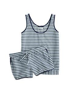 Cotton pajama set.