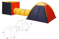 GigaTent Large Kids Play Tent Indoor/Outdoor Playhouse Indoor & Outdoor for kids games in the summer in the yard for outdoor lawn games Playhouse Outdoor, Outdoor Play, Indoor Outdoor, Outdoor Games, Vegas, Play Tunnel, Adventure Center, Air Ventilation, Dome Tent