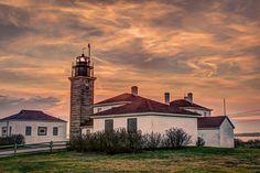 Lighthouse In Rhode Island Photograph
