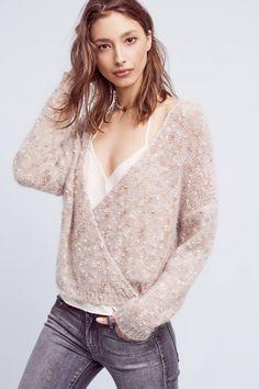 Teramina Wrap-Front Sweater