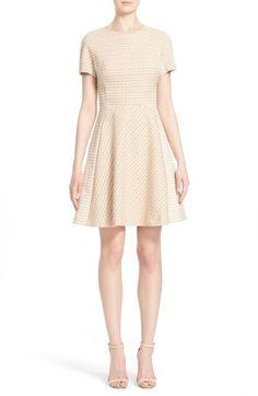 LELA ROSE Stretch Jacquard Paneled Fit & Flare Dress. #lelarose #cloth #