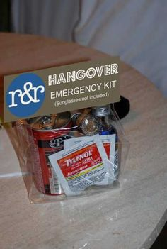 images of hotel gift bag at weddings | Wedding Hangover Kits- A gift your guests will thank you for! | Bliss ...