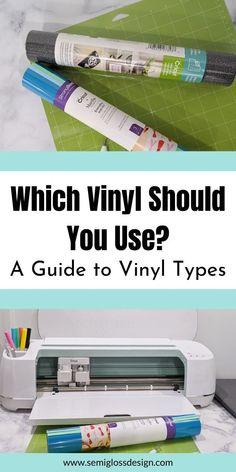 Cricut Vinyl Types Explained: Which Vinyl Should You Use?