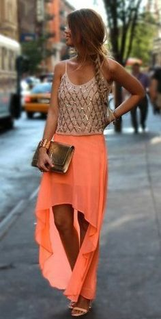 Love skirts short in the front and long and flowy in the back