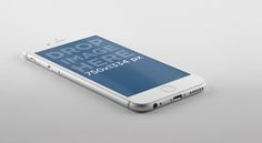 iPhone 6 Mockup Against Grey Background
