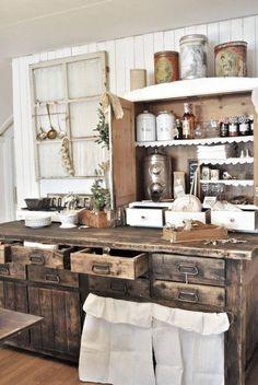 Rustic Farmhouse Kitchen. Love it!