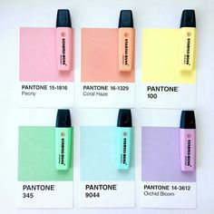 Stabilo Boss Pastel highlighters and their equivalent Pantone colors by @odettewrites. Find them at kawaiipenshop.com and enjoy our FREE worldwide delivery!