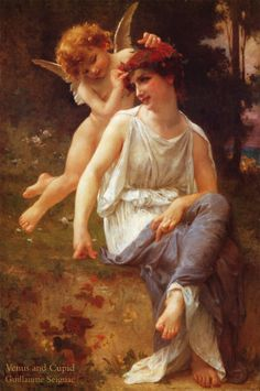 Venus and Cupid Art Print by Guillaume Seignac $28 AUD