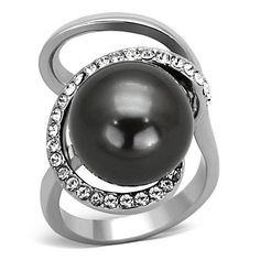 Women's Polished Stainless Steel Gray Synthetic Pearl Ring - Size 7 Classy Not Trashy http://www.amazon.com/dp/B00JU6BKEK/ref=cm_sw_r_pi_dp_Kodnvb0QZQXY6