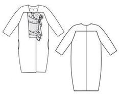 Выкройка пальто-кокон: советы по шитью своими руками и примеры моделей с выкройками