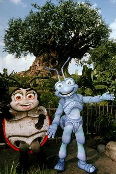 Francis and Flik outside of Its Tough to Be a Bug in Animal Kingdom.