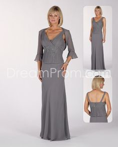Attractive Lace/Beaded A-Line V-Neck Floor-length Mother of the Bride Dresses