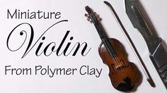 Hey Guys! Today's tutorial is for a polymer clay violin :) If you'd like to use this as a charm I'd recommend attaching the strings differently, because they...