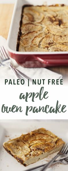 Need a healthy and filling breakfast to satisfy a comfort food craving? This easy Apple Paleo Oven Pancake features nourishing coconut flour.