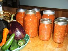 Eggplant  Sauce for Pasta-great marinara sauce with wine. Most reviews suggested halving the sugar. Can also be frozen