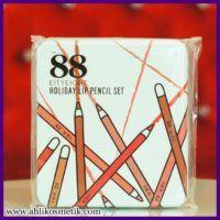88 Holiday Lip Pencil Set, Pewarna Bibir Korea Anti Air