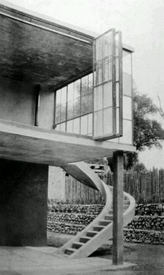 Juan O'Gorman  | House in Palmas 81, San Ángel Inn, Mexico City, 1929 La casa de O'Gorman