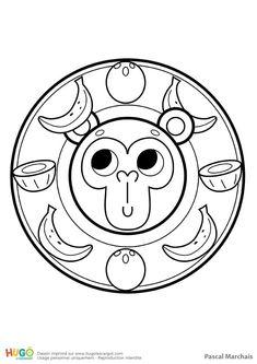 Coloriage Mandala Banane.Mandala Mouton Pour Les Petits Coloriage Maternelle