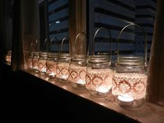 jars with handles...also in lights