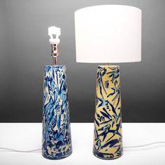 Pair Of Handmade Ceramic Lamp Bases Carrio Design