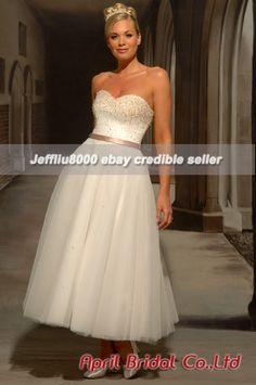 Sparkle sweetheart ankle length wedding dress $179.99