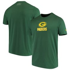 Green Bay Packers Under Armour Combine Authentic Dot Logo Performance Tri-Blend T-Shirt – Green
