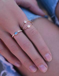 14kt rose gold and diamond cluster labradorite ring – Luna Skye by Samantha Conn