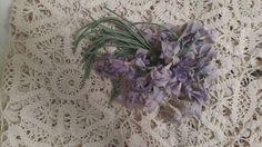 Vintage Fabric Flowers Millinery Hat Lavender Lilac Floral Cluster $18.50 - The Gatherings Antique Vintage